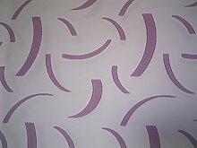 Gardinen Schiebevorhangstoff weiß mit Muster lila