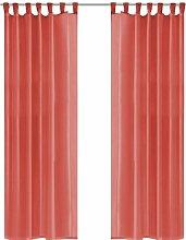 Gardinen-Set Babylon mit Schlaufen, halbtransparent