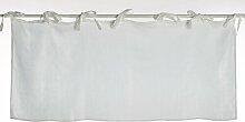 Gardinen-Set Bryton mit Schlaufen, transparent