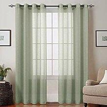 Gardinen-Set für Schlafzimmer, Fenster,