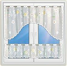 Gardinen Set mit Bögen Blumen bedruckt