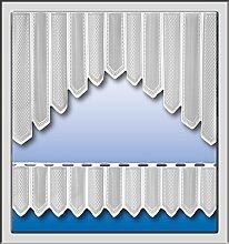 Gardinen Set mit Muster in weiß Scheibengardine