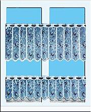 Gardinen Set mit Ranken in lila und weiß