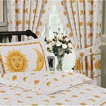 Gardinen-Set Sonne und Mond mit Kräuselband Rives