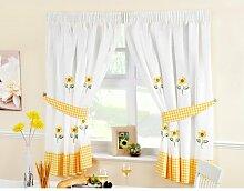 Gardinen-Set Sonnenblumen mit Kräuselband Brambly