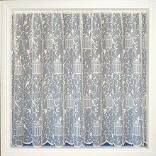 Gardinen, Voilespitzes Netz, Singvogel, 160cm lang, weiß