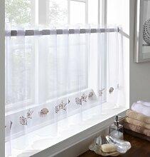 Gardinen, Vorhänge, Flächenvorhänge Café, Sea Shells, 150cm x 46cm