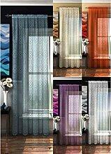 Gardinen, Vorhänge Panel, Voile, Bermuda, 142cm x 183cm, blau