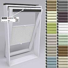 Gardinen21 Dachfenster Rollo mit Bohren I Plissee