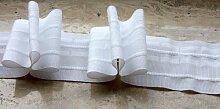 Gardinenband,Faltenband 2,5:1, 60 mm,weiß,1