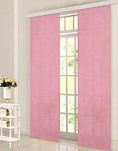 Gardinenbox Schiebevorhang Flächenvorhang Mikrofaser Blickdicht Matt 245x60, Pink