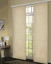 Gardinenbox Schiebevorhang Flächenvorhang Mikrofaser Blickdicht matt 245x60, Sand