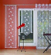 Gardinenking Kreta Fensterbehang Viora weiß
