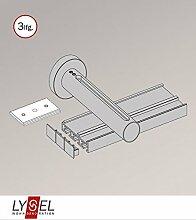 Gardinenschiene aus Aluminium - in silber - 3 Spuren L 260cm