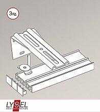 Gardinenschiene aus Aluminium - in weiß - 3 Spuren L 210cm