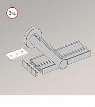 Gardinenschiene aus Aluminium mit Wandträger - in