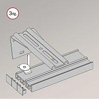 Gardinenschiene aus Aluminium mit Winkelträger -