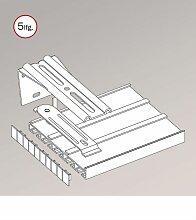 Gardinenschiene aus Aluminium Winkelträger - in