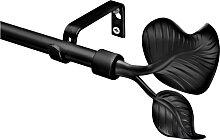 Gardinenstange Blatt, schwarz (160 cm)