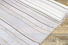 Gardinenstoff mit Streifen - in braun H 300cm als Maßanfertigung (1 lfm)