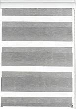 Gardinia 33337 Doppelrollo Silvalin silber, 80 x