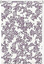 GARDINIA Rollo mit Blatt-Muster zum Klemmen oder