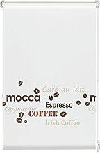 GARDINIA Rollo mit Kaffee-Schriftzug zum Klemmen
