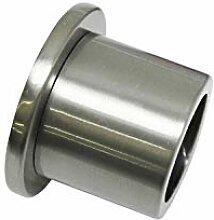 Gardinia Wandlager für Ø 25 mm, edelstahl-optik 2