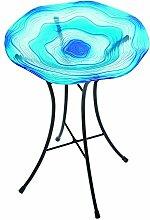 Gardman A04374 Vogelbad aus blauem Glas