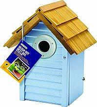 Gardman BA01681 Beach Hut Nest Box, Blue