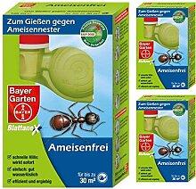 GARDOPIA Sparpaket: 3 x 125 ml Bayer Garten Blattanex Ameisenfrei + Gardopia Zeckenzange mit Lupe