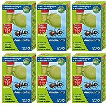 GARDOPIA Sparpaket: 6 x 125 ml Bayer Garten Blattanex Ameisenfrei + Gardopia Zeckenzange mit Lupe