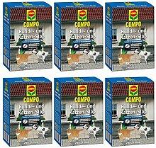 GARDOPIA Sparpaket: 6 x 200 g COMPO Hunde- und Katzen-Stop Vergrämungs- Abwehrmittel + Gardopia Zeckenzange mit Lupe