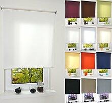 Garduna PULL Tageslicht-Rollo # hellgrau 132cm # viele Farben & Größen - Sichtschutz - lichtdurchlässig - Mittelzugrollo Springrollo Schnapprollo