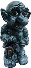 Gargoyle Figur mit Lampe - Gargoyle Figuren -