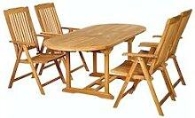 Garland 4+1 Sitzgruppe Bari Teak Holz Gartentisch