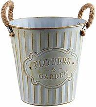 Garneck Vintage Blecheimer Alte Eisen Blumenrohr