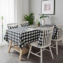 Garngefärbte Plaid-Tischdecke aus Baumwolle und