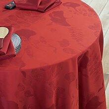 garnier-thiebaut 32395Tausend Blatt Tischdecke Baumwolle rot 180x 180cm