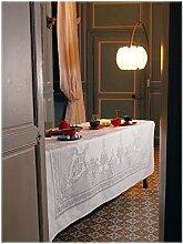 Garnier-Thiebaut 4084 Tischdecke Beauregard Blanc