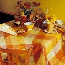 Garnier Thiebaut Damast Mille Couleurs soleil Tischdecke 150/150