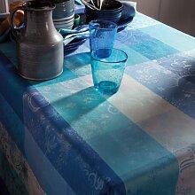 Garnier Thiebaut Mille couleurs azur Tischdecke 175/200 abwaschbar