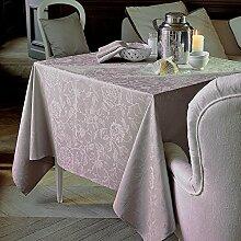 Garnier thiebaut Tischdecke beschichtet, Baumwolle, Taupe, 175x 175cm