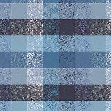 Garnier Thiebaut Tischdecke Mille Couleurs Bleu