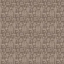 Garnier-Thiebaut Tischdecke MILLE DEER brown 87 x