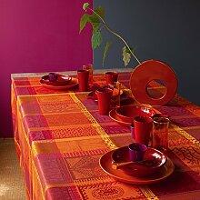 Garnier Tischdecke beschichtet Mille Wax, Baumwolle, Ketchup 175 X 175, 175 x 175 cm