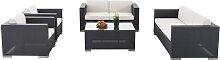 Garnitur Brac XL Lounge-Set aus Stoff-grau
