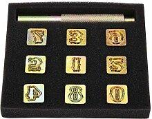 Garosa 13mm Metal Stamp Punch Set Nummer 0~8