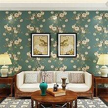 Garten amerikanische Vliestapeten Schlafzimmer Wohnzimmer Fernseher Sofa Hintergrund romantische Hochzeit Wallpaper Wallpaper im chinesischen Stil, A