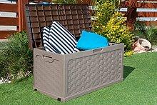 Garten-Aufbewahrungsbox aus Kunststoff mit
